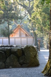 北御門参道から望む御饌殿(外宮)
