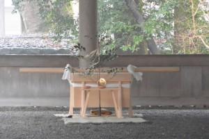 五丈殿に準備された遷宮諸祭儀 奉幣の儀のための辛櫃ほか(外宮)