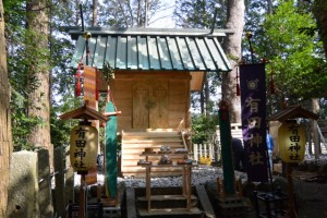 本殿修繕のための仮殿(有田神社)