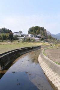 立雲寺の遠望(多気町片野)