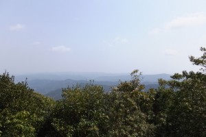 山伏峠からの風景、五知道(磯部岳道)