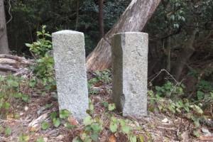 旧本宮橋の親柱(磯部町五知)
