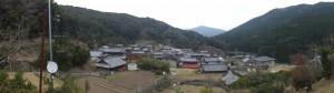 薬師堂付近からの眺望、五知道(磯部岳道)