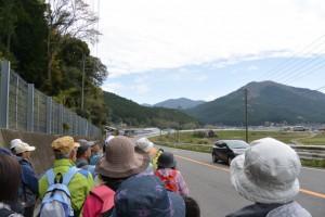 熊野古道伊勢路、国道42号と合流(度会郡大紀町阿曽)