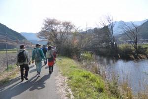 大内山川に沿って芦谷橋へ