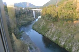 JR紀勢本線 宮川橋梁から望む船木大橋、船木橋方向