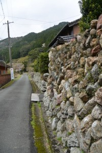 石垣(伊勢市横輪町)