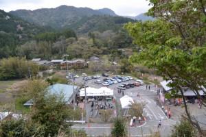 宮山横輪桜の小道からの眺望(伊勢市横輪町)