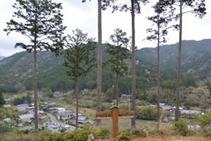 宮山の頂上からの眺望(伊勢市横輪町)