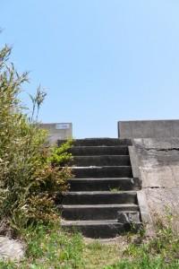 湿地帯から松下1号角落しへの階段