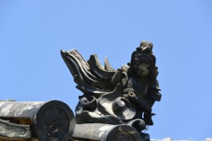 眞福寺の留蓋瓦(明和町中海)