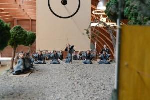 鳥羽市安楽島町の弓立ち神事のジオラマ(海の博物館)