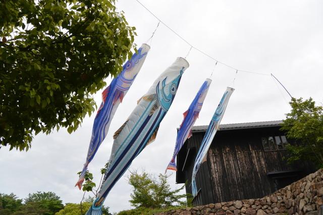 カツオのぼり(海の博物館)