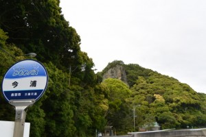 かもめバス 今浦 バスのりばから望む浦神社(鳥羽市浦村町)