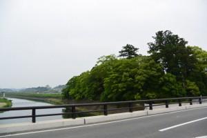 五十鈴川に架かる五十鈴橋から望む大土御祖神社の社叢