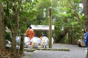 神田御田植初 どう舞(大土御祖神社)