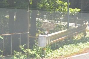 「←木花堂」の案内板(国道311号、須野町への分岐付近)