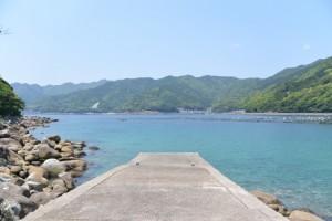 阿古師神社の鳥居から望む風景(熊野市甫母町)
