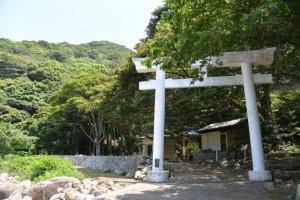 阿古師神社の鳥居(熊野市甫母町)
