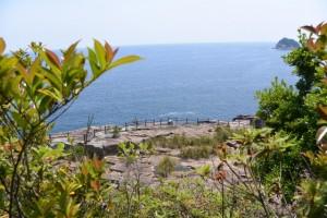 楯ヶ崎遊歩道から望む英虞崎の千畳敷と笹野島