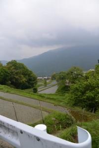 真福院の駐車場からの風景(津市美杉町三多気)