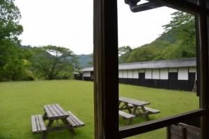 油田公園、旧油田醸造の母屋からの風景(多気町車川)