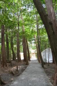 御遷座を終えた園相神社(皇大神宮 摂社)