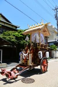 八幡神社獅子舞神事 松ケ島祭車(桑名七里の渡し場 伊勢国一の鳥居 お木曳)