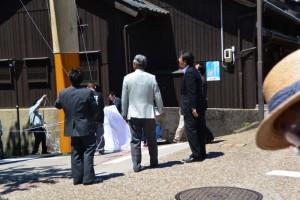 東海道関宿 東追分一の鳥居竣工式