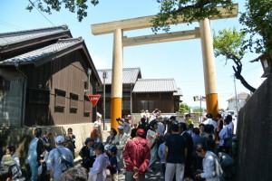 東海道関宿 東追分一の鳥居くぐり初め式
