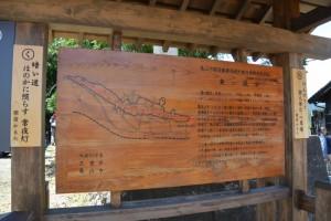 東海道関宿 東追分の説明板