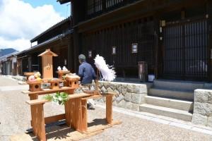 東海道関宿 東追分一の鳥居竣工式、くぐり初め式を終えて