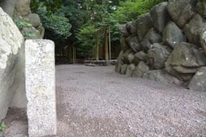 志等美神社、大河内神社、打懸神社(豊受大神宮摂社ほか)への入口