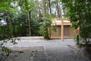 仮殿が撤去された園相神社(皇大神宮摂社)