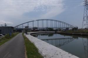勢田川水管橋架設工事