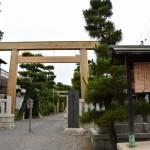 内宮(皇大神宮)の第一鳥居が御下賜された城南神社(桑名市安永)