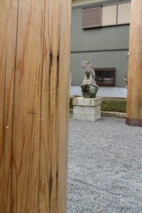 神宮より御下賜された鳥居、皇大神宮第一鳥居時代の名残(城南神社)