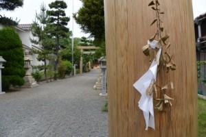 内宮(皇大神宮)より第一鳥居が御下賜された城南神社の鳥居(桑名市安永)