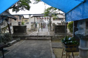 御木曳き祭斎行前の赤須賀神明社(桑名市赤須賀)