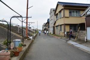 赤須賀神明社御木曳き祭後の石取祭車渡祭(桑名市赤須賀)