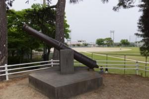 辰巳櫓跡の大砲(九華公園)