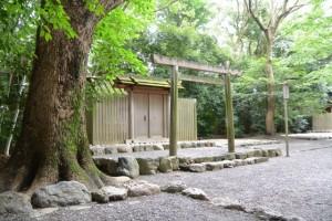 月次祭を終えた草奈伎神社(豊受大神宮摂社)