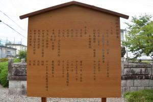 建て替えられた恒例神社祭典の立札(有田神社)