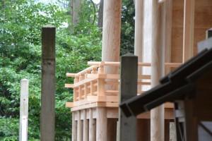 修繕中の本殿(有田神社)