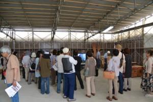 説明およびビデオ上映会場(第11回斎宮復元建物工事見学会)