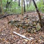 宇治山田神社(皇大神宮摂社)の裏手にある石積の石壇