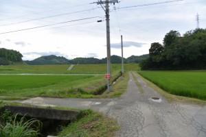 伊勢本街道(初瀬街道)から宮川用水斎宮調整池へ