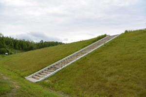 宮川用水斎宮調整池への階段