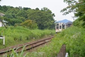 JR参宮線 三ツ桝踏切付近から・・・
