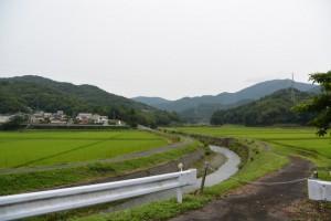 県道719号から雨渕川の遠望